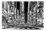 Startonight Impression Sur Toile Noir et Blanc Ville Surpeuplée II, Art Encadré...
