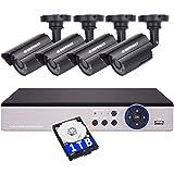 DEFEWAY 1080N 8CH CCTV DVR avec 1 To de disque dur et 4x 720P Outdoor AHD Security Cameras Video Surveillance System