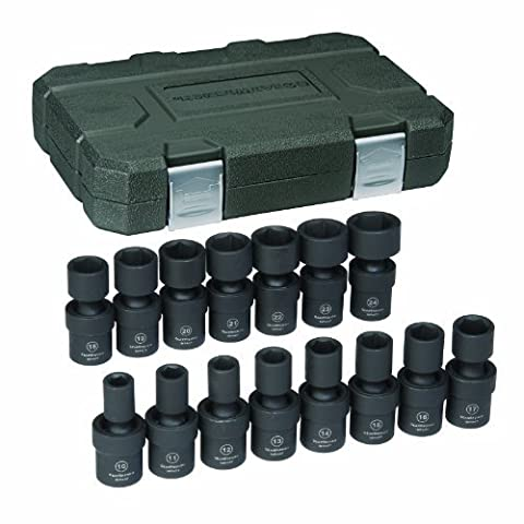 GearWrench 84939 1/2-Inch Drive Universal Impact Socket Set Metric, 13-Piece by Apex Tool Group