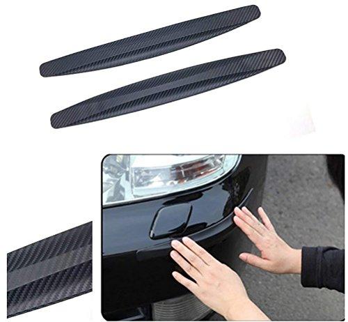 XINKE 1Paar Auto Stoßstangen Schutz Streifen Flexibel Carbon Fiber Vorne Hinten Schutz Abdeckung Anti-Kratzer -