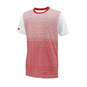 WILSON Kinder Team Striped Crew Kurzärmeliges T-Shirt