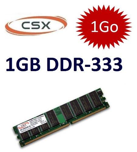 Speicher-Art: 8GB CSX 1, 184-polig) DDR - 333 PC 2700 (333Mhz, CL2.5), DIMM, für die ordinateures DDR1 -