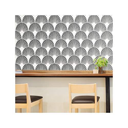Möbel Fan (ART DECO FAN Wand Möbel Fußboden Schablone für Malerei - Möbel Klein)