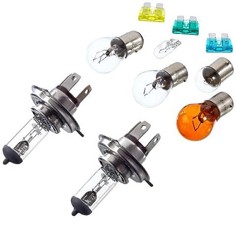 Unitec 73084 H4 Ersatzlampen-Koffer, Lampen & Sicherungen