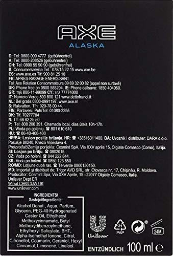 Axe Aftershave Alaska, 1er Pack (1 x 100 ml)