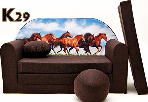 K29 divano richiudibile divano di lana per bambini con divano letto divano mini divano 3-in-1 set baby + poltrona per bambini e cuscino per sedia + materasso