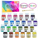 Epoxidharz Farbe - 240g(24er x 10g) Seifen Farben Pigment - Kosmetische Mica Pulver Schleimfarben zur Seifenherstellung - Natürliche Epoxidharz Farbstoff Pigment für Badebomben, Nail Art, Malerei
