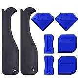 KINYOOO Sealant Tool Caulking Werkzeug Set 8 Stück, Fugenglätter - Profi Fugenabzieher Set für Silikon, Silikonfugen und Acryl | Fugenspachtel | Glättspachtel (blau+Schwarz).