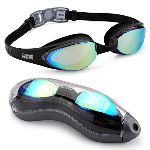 Aegend Schwimmbrille, dicht, Anti-Beschlag-Schutz, UV-Schutz, inkl. Etui, Taucherbrille für Erwachsene, Damen, Herren, Jugendliche, Kinder, für Triathlon MEHRWEG