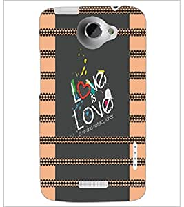 PrintDhaba Quote D-4933 Back Case Cover for HTC ONE X (Multi-Coloured)