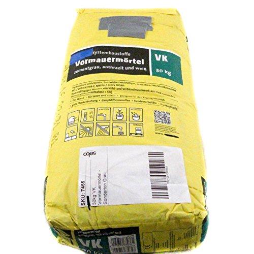 30kg VK Vormauermörtel - Sonderton Grau