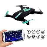 Yunshangauto WIFI Portable Quadcopter Drone Avec Caméra FPV HD Drone Foldable 2.4 GHz 3D Flip Quadcopter Sans Tête Mini Hélicoptère Drone (vert)