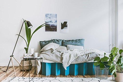 ROOM IN A BOX | Bett 2.0 S/P: Nachhaltiges Klappbett aus Wellpappe in der Größe 90 x 200 cm und alle Zwischengrößen. Ideal auch als praktisches Gästebett, da leicht verstaubar und ein Lattenrost nicht benötigt wird. - 5