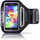 Aplic - Samsung Galaxy / HTC / LG Sportarmband mit Schlüsselfach + Kopfhörerhalter | passgenau für Smartphones mit bis zu 4,7