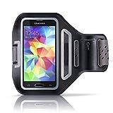 """Aplic - Samsung Galaxy / HTC / LG Sportarmband mit Schlüsselfach + Kopfhörerhalter   passgenau für Smartphones mit bis zu 4,7""""(11,9cm)   atmungsaktives Mesh-Gitter   spritzwassergeschützt   inkl. Reflektorstreifen   schweißbeständig   Samsung Galaxy S3 / S4 / HTC One, LG, Huawei uvm."""