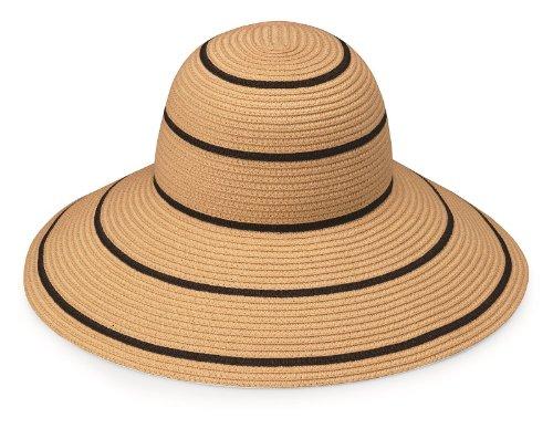 Wallaroo Hats Damen Hut Savannah Kamel-Schwarz Streifen, One Size - Savannah Cap