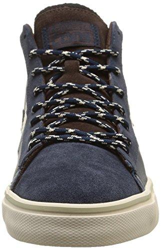 Converse, Pro Leather Vulc Mid Leath/Sue Sneaker,Unisex Adulto Dress Blue/Twilight/Burnt