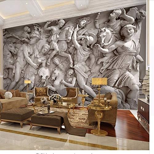 QThxqa Kundenspezifische 3D Fototapete europäischen Retro römischen Statuen Kunst Wandbild Restaurant Wohnzimmer Sofa Hintergründe Tapeten Wandbild 3D