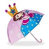 Grazie all'ombrello per bambini dai colori vivaci, i vostri figli saranno prontissimi ad affrontare il prossimo temporale. Il piccolo parapioggia 3D è disponibile in diversi motivi. Tra cui quello che si addice al vostro bimbo o bimba. Il pic...