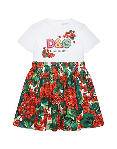 DOLCE E GABBANA Mädchen L5jd1kg7trms9000 Rot Baumwolle Kleid - Dolce Gabbana Kleid Schuhe