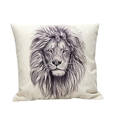 Lolittas Lion hug Case Sofa Waist Throw Cushion Cover Home Decor - cheap UK light store.