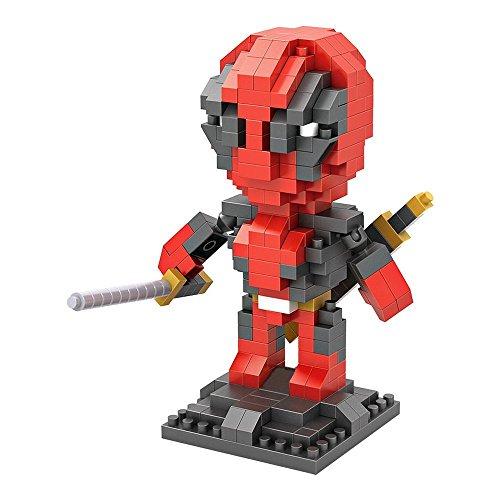 Deadpool Della Marvel superhero_LOZ NanoBlocks Micro Diamante FAI DA TE Giocattoli Educativi