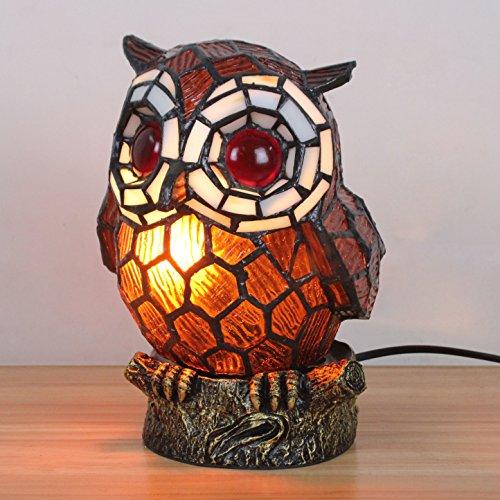 WCS Art-reizendes kreatives Kaffee-Eulen-Tabellen-Lampen-Kinderlampe-Nachtlicht -