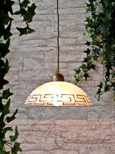 Rustikale LED Energiespar-Hängeleuchte 5 Watt Lampe Leuchte Pendelleuchte (Griechische Lampe)