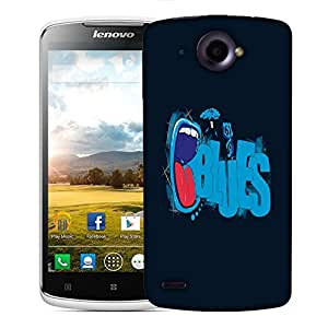 Snoogg Blues Designer Protective Back Case Cover For LENOVO S920