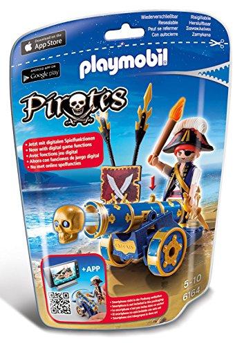 PLAYMOBIL - Cañón Interactivo Azul con Pirata (61640)