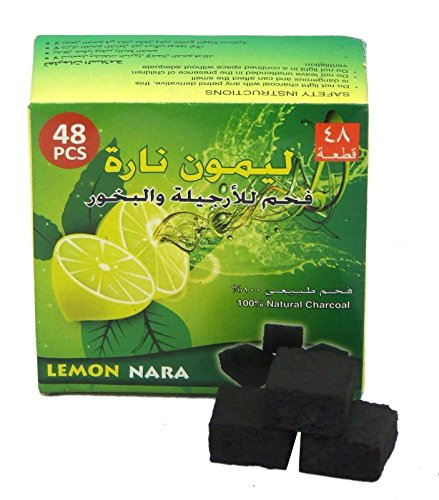 Lemon Nara Charcoal 48pcs Coco Coconut Charcoal Hookah Shisha Nargila Coal