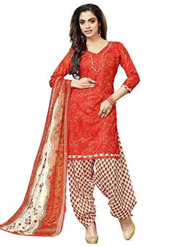KANCHNAR Women's Cotton Floral Printed Unstitched Dress Material