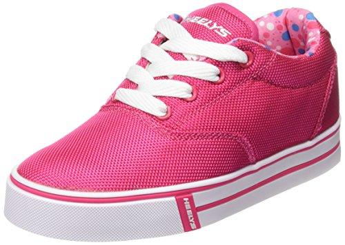 Heelys Launch 770699, Mädchen Lauflernschuhe Sneakers, Mehrfarbig (Fuchsia/Printed Lining), 34 EU (Top 3131)