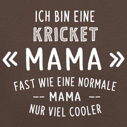 Ich bin eine Kricket Mama - Herren T-Shirt - 13 Farben Schokobraun