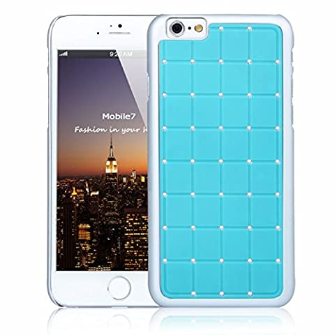 Posh Style Apple Iphone 6 LUXURY CRYSTAL Cross Diamond Blue Case Bling Hard Cover with White Frame For Apple Iphone 6 By G4GADGET®