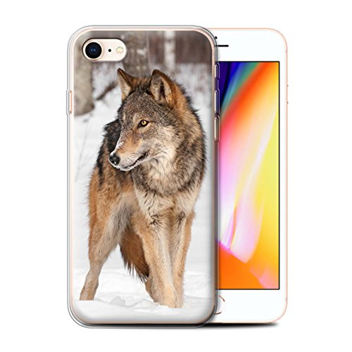 Coque Gel TPU de Stuff4 / Coque pour Apple iPhone 4/4S / Girafe Design / Animaux sauvages Collection Loup