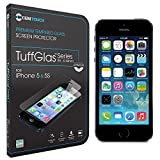 Cenitouch® - ULTRA SLIM Tempered-Glass Screen Protector for iPhone 5S / 5C / 5 [TuffGlas® Technology] (0.24mm) Latest Edition Thin Rounded Edges with 9H Hardness - Includes Microfiber Cleaning Cloth & Instructions