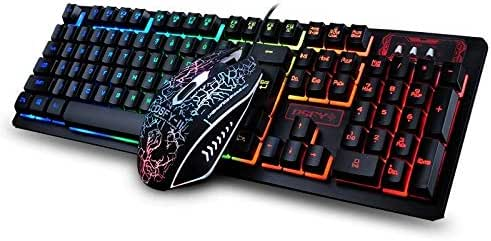 Qjbh Wired Keyboard And Mouse Set Hd Characters Amazon Co Uk Electronics
