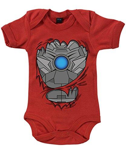 clothinx Baby Body Unisex Cyber Kostüm Rot Gr. 62-68 (Mädchen Kostüm Who Doctor)