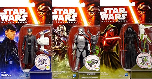Star Wars The Force Awakens First Order Leader Kylo Ren, General Hux und Captain Phasma im Set - Hasbro