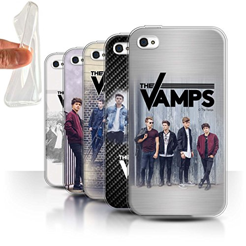 Offiziell The Vamps Hülle / Gel TPU Case für Apple iPhone 4/4S / Pack 6pcs Muster / The Vamps Fotoshoot Kollektion Pack 6pcs