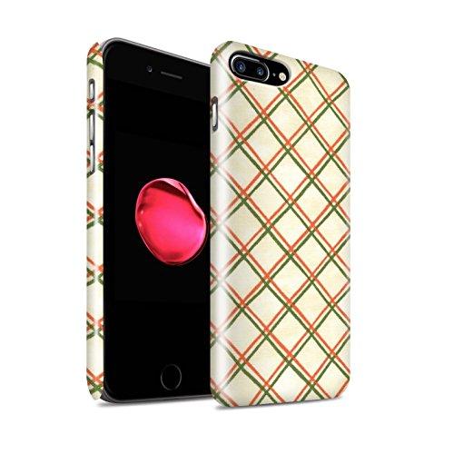 STUFF4 Glanz Snap-On Hülle / Case für Apple iPhone 8 Plus / Pack (15 pcs) / Kreuz Muster Kollektion Rot/Grün