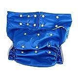 Adultos pañales de tela lavable para cuidado de incontinencia - Apertura el bolsillo ajustable reutilizable,adecuado para las personas mayores