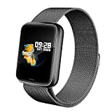 Lintelek Smartwatch HR NEU Smart Watch Health Watch Fitness Armband Pulsuhren Sportuhr Farbbildschirm Blutdruck Vibrationsalarm kompatibel mit iPhone Android Fitness Tracker für Samsung Gift