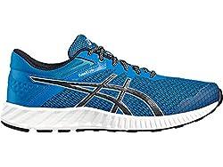 Asics Mens Thunder Blue, Black and White Running Shoes - 9 UK/India (44 EU)(10 US)