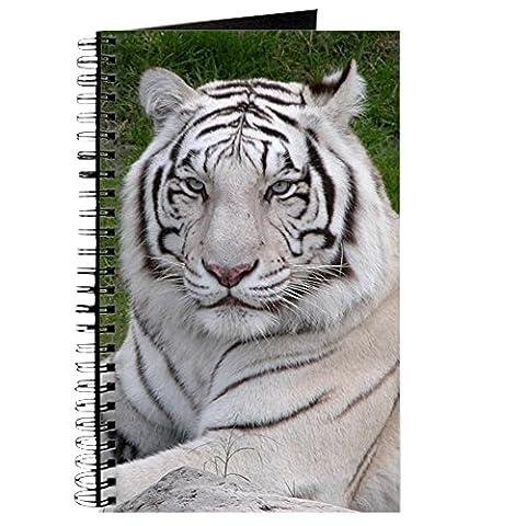 CafePress–Weiß Tiger–Spiralbindung Journal Notizbuch, persönliches Tagebuch, liniert