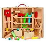 Wooden Carpenters Kit Playset, Tool Toys for Children Kids, Builder Fun Workshop Learning - Clifford James - amazon.co.uk