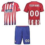 Panicy Personalisierte Atlético Madrid Home Football Shirt Benutzerdefinierte Fußball Trikots mit Team Name Spieler Namen und Zahlen