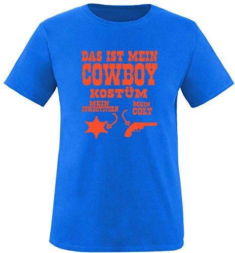 Luckja Das ist mein Cowboy Kostüm Herren Rundhals T-Shirt Royal/Orange
