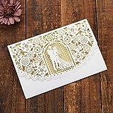 JinSu 10 Pezzi Carte di Invito a Nozze, Invito Matrimonio per Festa Nuziale, Taglio Laser con Carta Stampabile e Buste per Matrimonio Anniversario (Principalmente per Matrimoni)